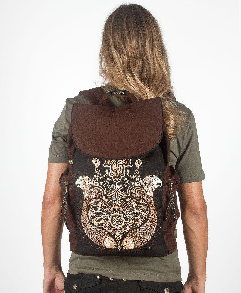 Hamsa Backpack - Brown