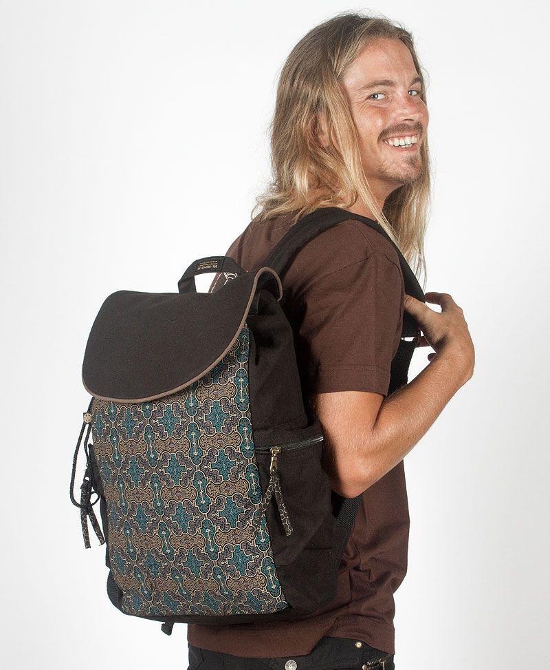 Shipibo Kené Backpack - Black