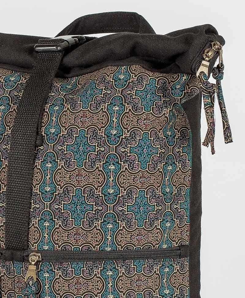 Shipibo Kené Roll-Top Backpack