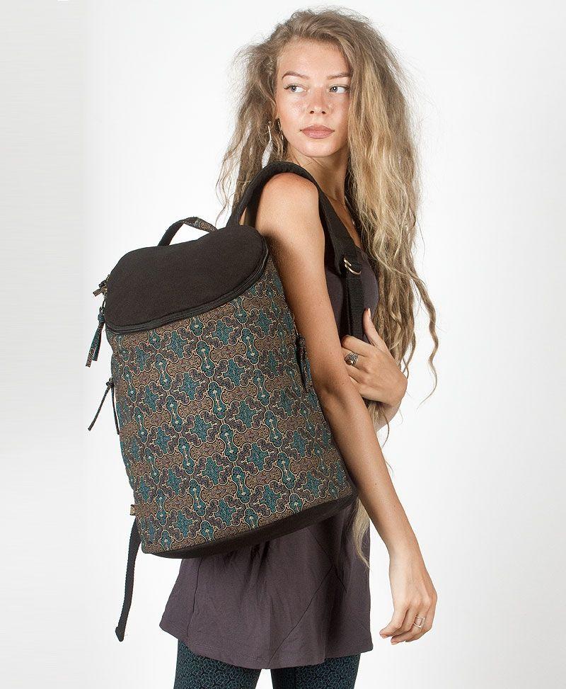 Shipibo Kené Wide Top Backpack