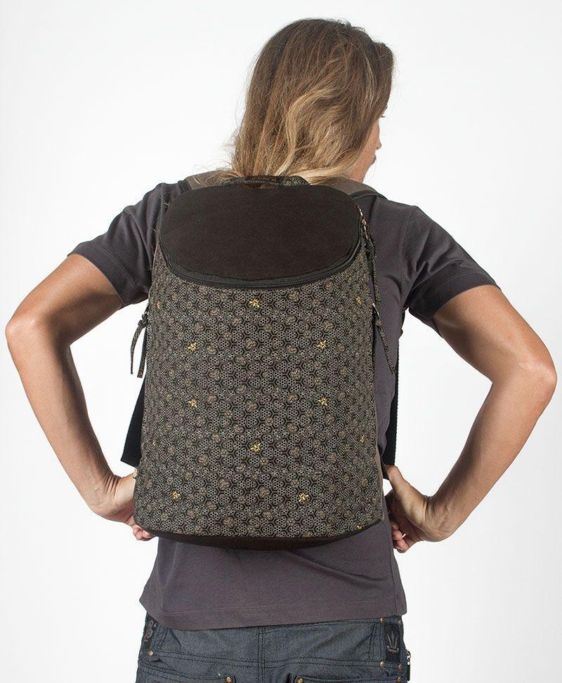 Bees Wide Top Backpack